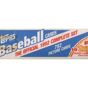 1992 Topps Baseball Factory Set (white box)