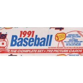1991 Topps Baseball Factory Set (white box)