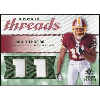 2008 Upper Deck SP Rookie Threads Rookie Threads Patch Jersey Number #RTDT Devin Thomas /11
