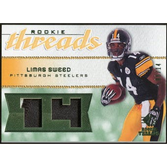 2008 Upper Deck SP Rookie Threads Patch Jersey Number #RTLS Limas Sweed 6/14