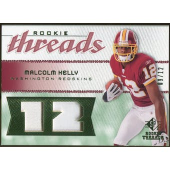 2008 Upper Deck SP Rookie Threads Rookie Threads Patch Jersey Number #RTMK Malcolm Kelly /12