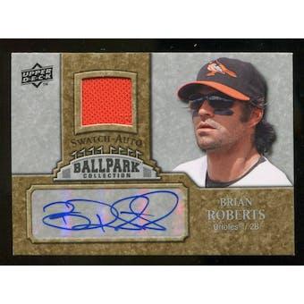2009 Upper Deck Ballpark Collection Jersey Autographs #BR Brian Roberts Autograph