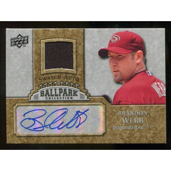 2009 Upper Deck Ballpark Collection Jersey Autographs #BW Brandon Webb Autograph