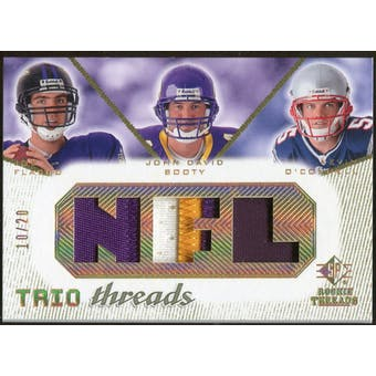 2008 Upper Deck SP Rookie Threads Trio Threads Patch #TTFBO Joe Flacco John David Booty Kevin O'Connell /20