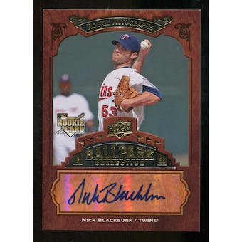 2008 Upper Deck Ballpark Collection #143 Nick Blackburn Autograph