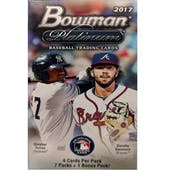 2017 Bowman Platinum Baseball 8-Pack Box