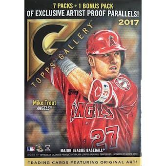 2017 Topps Gallery Baseball 8-Pack Box