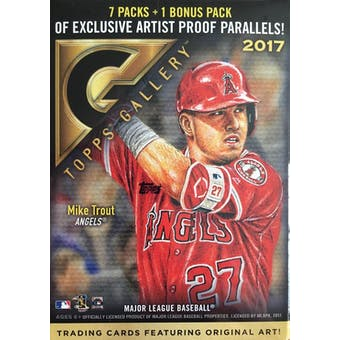 2017 Topps Gallery Baseball 8-Pack Blaster Box