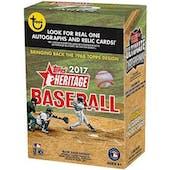 2017 Topps Heritage Baseball 8-Pack Box