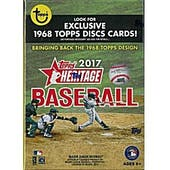 2017 Topps Heritage Baseball 8-Pack Blaster Box (w/Exclusive 1968 Topps Discs Cards)