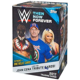 2017 Topps WWE Then Now Forever Wrestling 10-Pack Box
