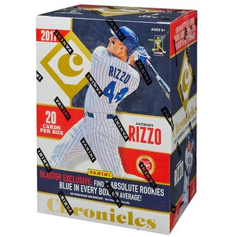 2017 Panini Chronicles Baseball 4-Pack Blaster Box