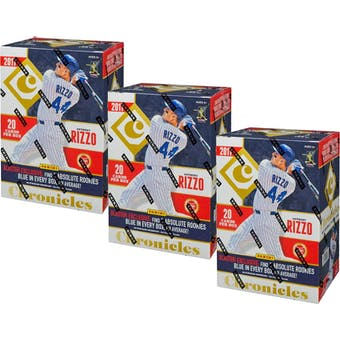 2017 Panini Chronicles Baseball 4-Pack Blaster Box (Lot of 3)