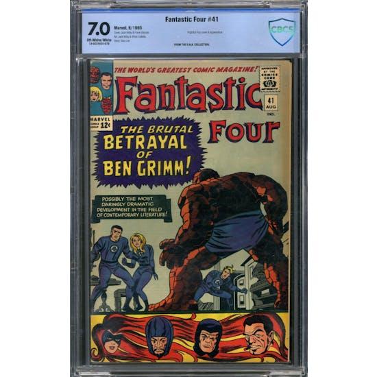 Fantastic Four #41 CBCS 7.0 (OW-W) *18-0D2F89E-079*