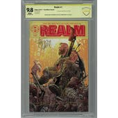 Realm #1 CBCS 9.8 (W) Tony Moore Variant Signed By Moore Peck & Haun *18-0E68EBA-029*