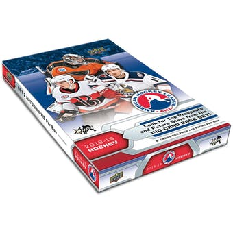 2018/19 Upper Deck AHL Hockey Hobby Box