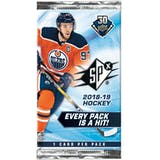 2018/19 Upper Deck SPx Hockey Hobby Pack