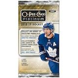 2018/19 Upper Deck O-Pee-Chee Platinum Hockey Hobby Pack