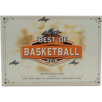 2018/19 Leaf Best Of Basketball Hobby Box
