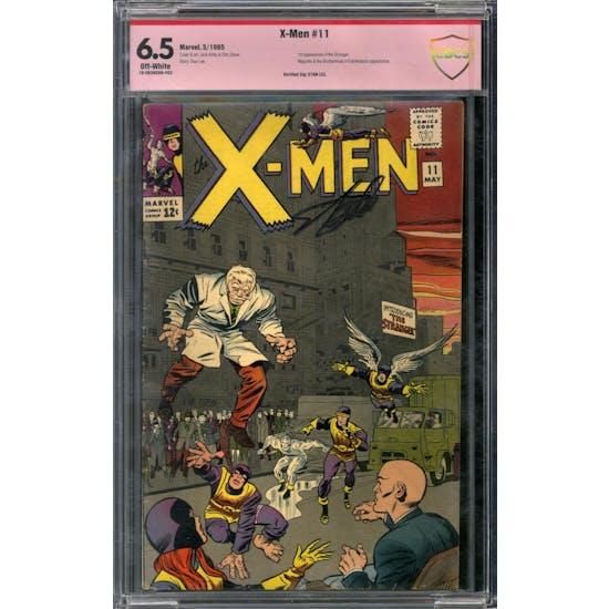 X-Men #11 CBCS 6.5 Stan Lee Signed (OW) *18-263AD98-002*