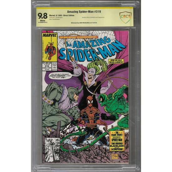 Amazing Spider-Man #319 CBCS 9.8 (W) Signature Series *18-309BF4D-012*