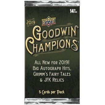2019 Upper Deck Goodwin Champions Hobby Pack
