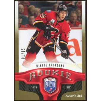 2009/10 Upper Deck Be A Player Player's Club #280 Mikael Backlund 1/15