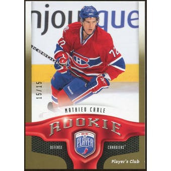2009/10 Upper Deck Be A Player Player's Club #284 Mathieu Carle 15/15