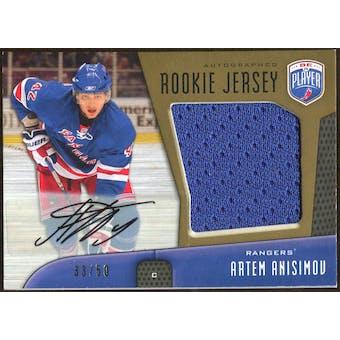 2009/10 Upper Deck Be A Player Rookie Jerseys Autograph #RJAA Artem Anisimov Autograph /50