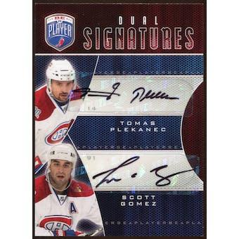 2009 10 Upper Deck Be A Player Signatures Duals #S2GP Scott Gomez Tomas Plekanec Autograph