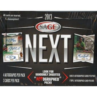 2013 Sage Next Football Hobby Box