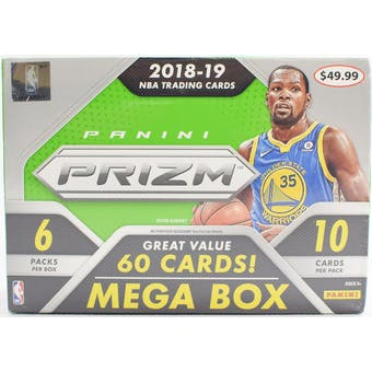 2018/19 Panini Prizm Basketball 6-Pack Mega Box