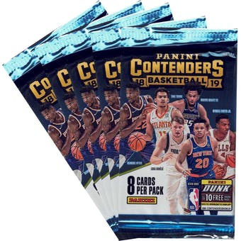 2018/19 Panini Contenders Basketball Blaster Pack (Lot of 5) = 1 Blaster Box