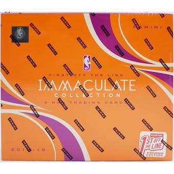 2018/19 Panini Immaculate 1st Off The Line Premium Basketball Hobby Box