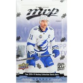 2018/19 Upper Deck MVP Hockey Hobby Box