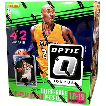 2018/19 Panini Donruss Optic Basketball 42ct Mega 20-Box Case