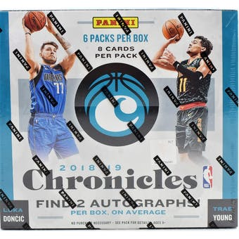 2018/19 Panini Chronicles Basketball 12-Box Case- DACW Live 30 Spot Random Team Break #1
