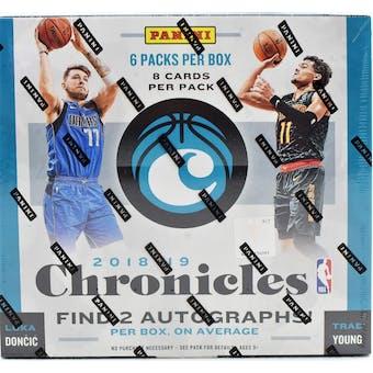 2018/19 Panini Chronicles Basketball 6-Box- DACW Live 30 Spot Random Team Break #1