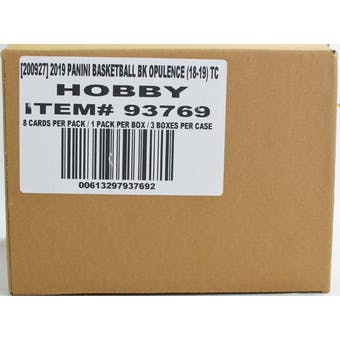 2018/19 Panini Opulence Basketball Hobby 3-Box Case