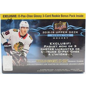 2018/19 Upper Deck Series 2 Hockey Mega Box