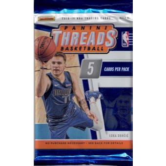 2018/19 Panini Threads Basketball Blaster Pack