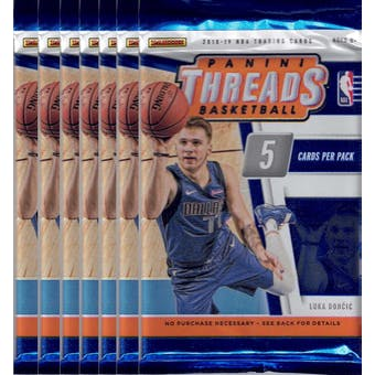 2018/19 Panini Threads Basketball Blaster Pack (Lot of 7) = 1 Blaster Box