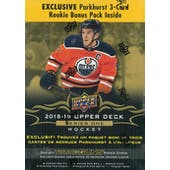 2018/19 Upper Deck Series 1 Hockey 12-Pack Mega Box  (Lot of 3)