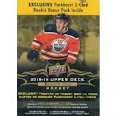 2018/19 Upper Deck Series 1 Hockey 12-Pack Mega Box  (Lot of 3)