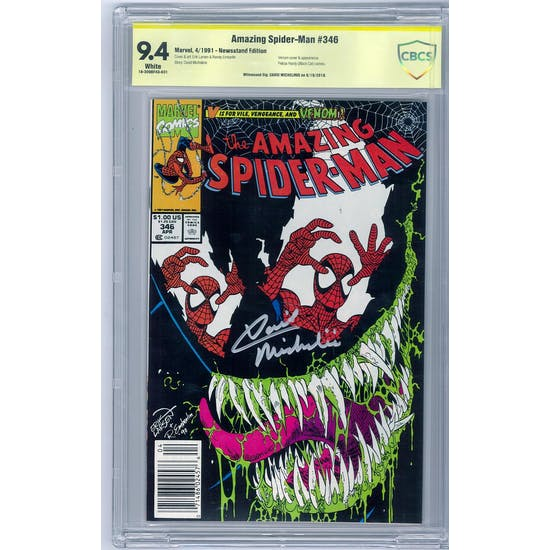 Amazing Spider-Man #346 CBCS 9.4 (W) Newsstand *18-309BF4D-031*