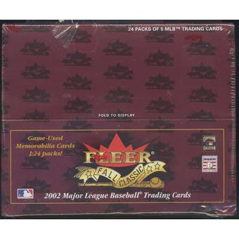 2002 Fleer Fall Classics Baseball Retail Box