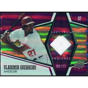 2008 Upper Deck Premier Swatches Jersey Number #VG Vladimir Guerrero 8/27