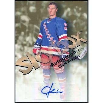 2012/13 Upper Deck Fleer Retro Autographics 1999 #99CK Chris Kreider B Autograph