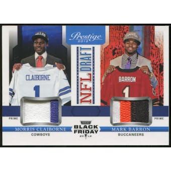 2012 Panini Prestige NFL Draft Combo Materials Black Friday #5 Morris Claiborne/Mark Barron
