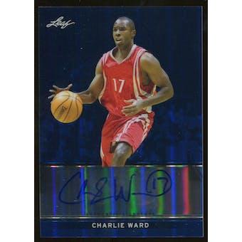 2012/13 Leaf Metal Holo Blue #BACW2 Charlie Ward Autograph 09/25